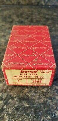 Vintage Starrett Dial Test Indicator Only 196b Iob Lot 810