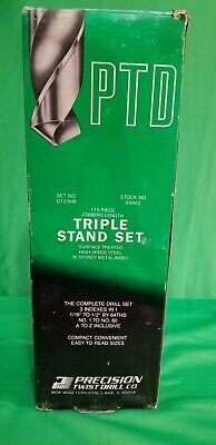 Precision Twist Drills 115 Jobbers Length Drill Set-3 Indexes In 1