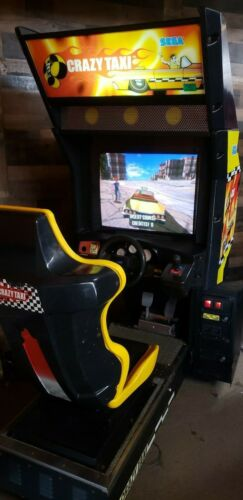 Sega Naomi Crazy Taxi Sit Down Driver Video Arcade Game, Atlanta, Working (#306)