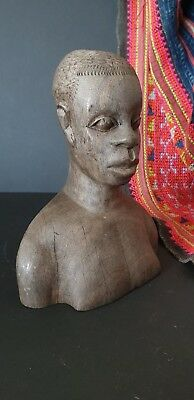 Old African Carved Wooden Bust  …beautiful collection & display piece