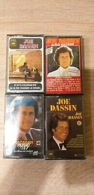Vintage Lot 4 K7 Cassette audio JOE DASSIN