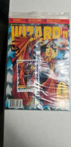 JULY 1992 WIZARD GUIDE SPAWN PROMO CARD AND POSTER IN MAGAZINE FACTORY SEALED
