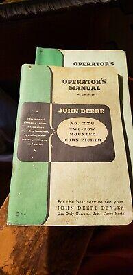 John Deere No. 226 Two-row Mounted Corn Picker Operators Manual Om-n2-249