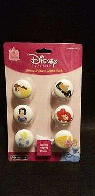 New Set of 6 Disney Princess Face CERAMIC Drawer Pulls Dresser Drawer /Cabinets