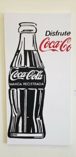 Big Mexican Coca Cola painting POP Art tribute to Andy Warhol 6´X 3´