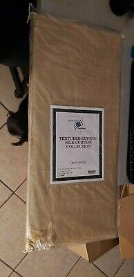 DIS-ID15-84 Textured Dupioni Silk Curtain, 50 x 84 Inches, Yellow/Gold Textured Silk Curtain