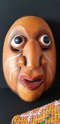 Old Balinese Carved Wooden Dance Mask …beautiful collection, display, accent pie