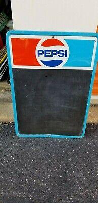 VINTAGE Tin Pepsi Chalk Board Sign 19 x 27