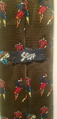 Vintage Novelty Stagg Leatherhead Football Players Slim Men's Boy's Tie - Boys Novelty Ties