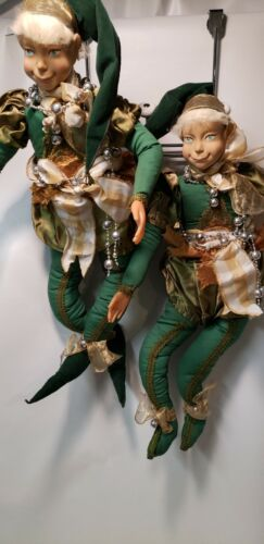 Two Vintage X-Large Impish Christmas Elves
