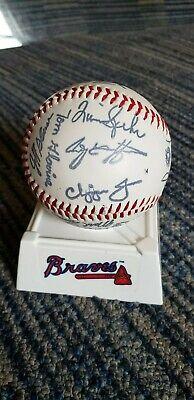 Atlanta Braves 1997 Team Signed Facsimile Baseball Glavine Smoltz Chipper Jones Chipper Jones Atlanta Braves Baseball