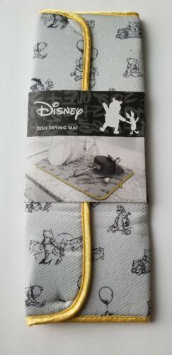 Disney WINNIE THE POOH w/ Piglet + Tigger Dish Drying Mat Kitchen Counter *NEW*