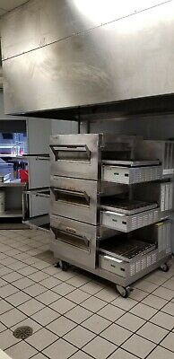 Lincoln Impinger 1132 Tripple Stack Electric Conveyor Pizza Sub Oven 3 Deck 3