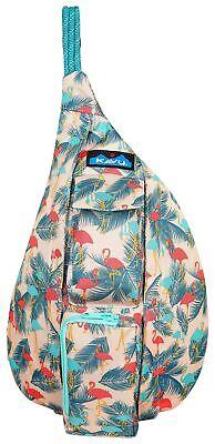 Polyester Rope - KAVU Mini Rope Sling Bag Polyester Crossbody Shoulder Backpack - Flamingo Fest