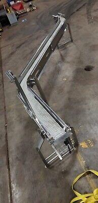 Stainless Conveyor S Curve Shape 6 Plastic Belt 168 Long Ironman 2 Hp