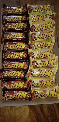 Nestle Lion Bar 20 x 30g Bars 10 Milk and 10 White Best Before End August 2020