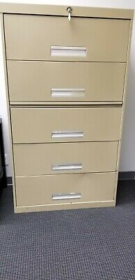 Superior New York Steel Five Drawer Lateral File