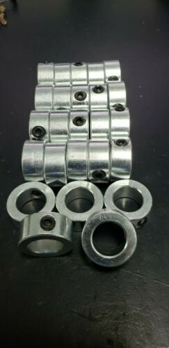 "(25pcs) 3/4"" Inch Solid Shaft Stop Collar - Zinc Plated - Set Screw - SC-075"