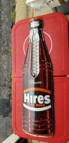 VINTAGE large Hires Rootbeer Bottle Thermometer Sign