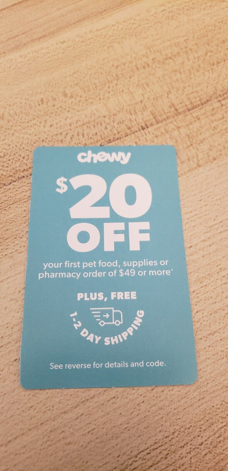 Chewy Coupon 20 Off First Order 49 Or More Exp. 06/30/21 - $7.50