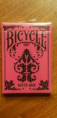 BICYCLE NAUTIC BACK PLAYING CARDS PINK **NEW SEALED