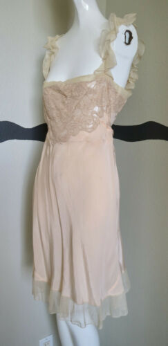 Vintage 1920s Nightie Silk Lace Ties