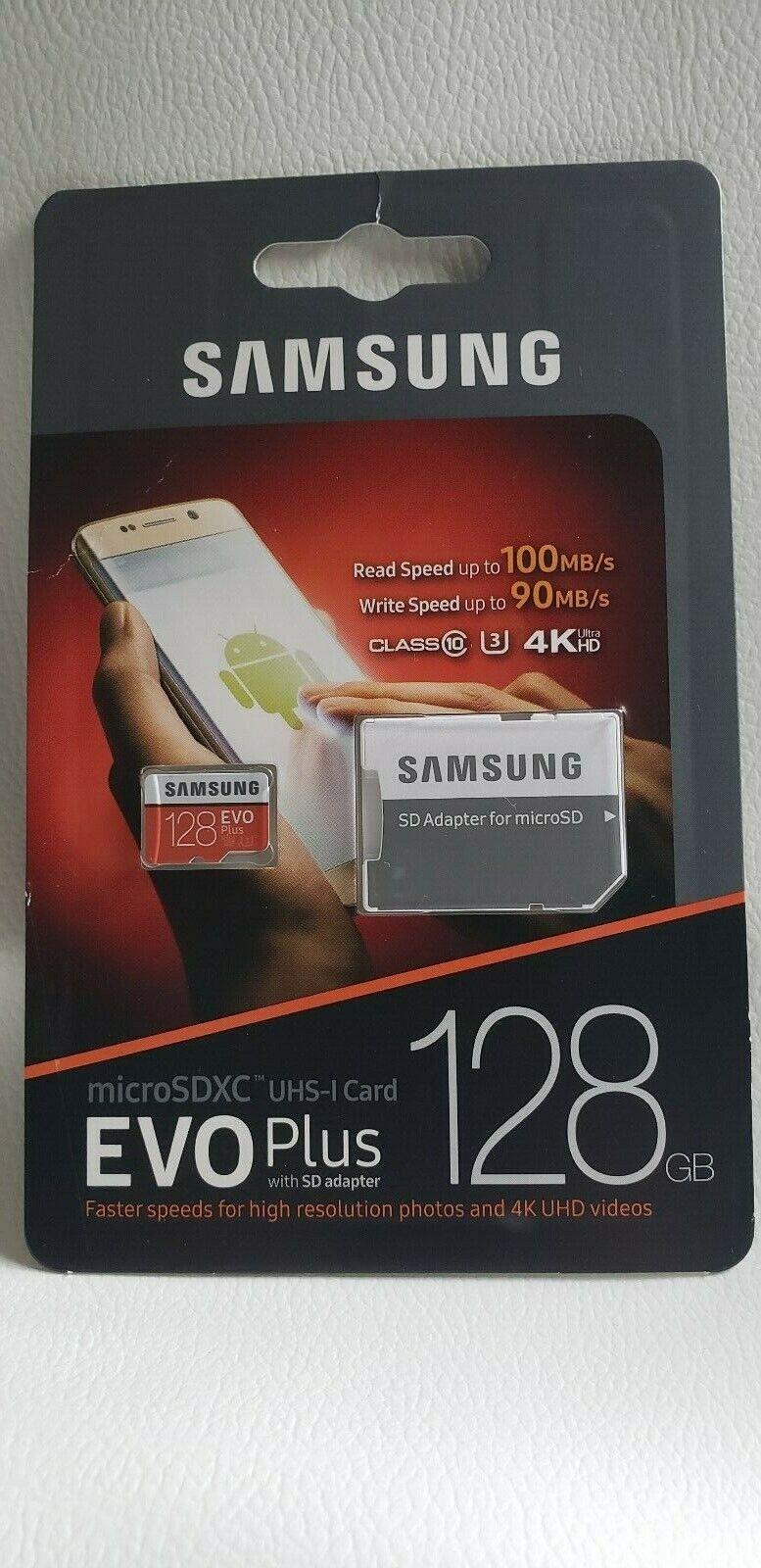 Samsung MB-MC128GA/EU EVO Plus 128GB MicroSDXC with SD Adapt