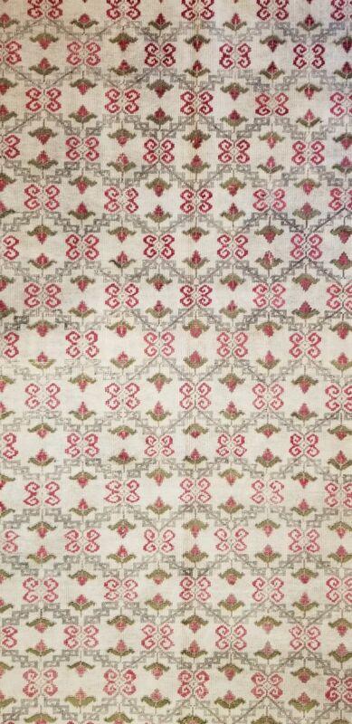 Perfect Portuguese - 1900s Antique European Rug - Floral Carpet - 5 X 9 Ft