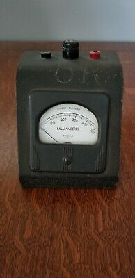 Vintage Simpson Art Deco Direct Current Milliamperes Meter