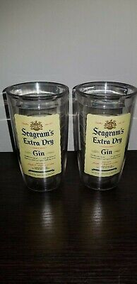 Vintage Pair of Tervis Tumbers Seagrams Extra Dry Gin ()