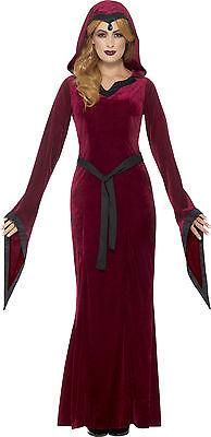 Mittelalterliches Vampir Kostüm für Damen NEU - Damen Karneval Fasching Verkleid