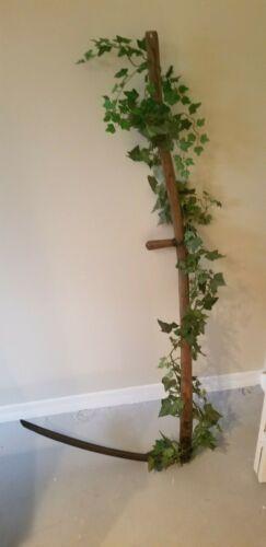 Antique Scythe decorated havesting reaper grim Outdoor Garden Farm Grass Blade`