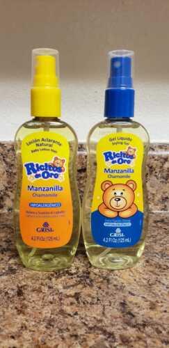 Ricitos De Oro KIT Gel liquida y Locion aclarante manzanilla/chamomile 4.2 fl oz
