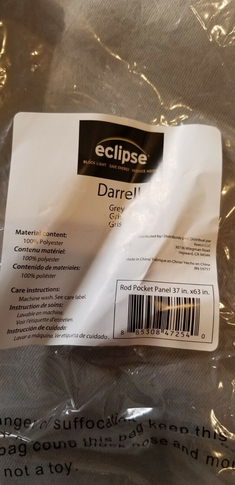 Eclipse Blackout Thermal Curtain Polyester Madison 37x63 Dar