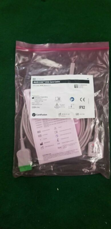 GE / Carefusion PN 2017003-001 5 Leads ECG Trunk Cable - NOS 2017003-001