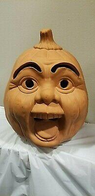 Terracotta JACK O LANTERN Pumpkin FACE CERAMICS Halloween (No light)