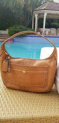 COACH Ergo Tan Leather Hobo Shoulder Bag 10740
