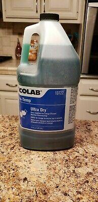 Ecolab 13722 Eco-temp Ultra-dry Rinse Additive 4 Gallon Industrial Dishwashing