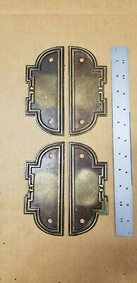 Lot (4) VTG NOS Furniture Hardware Backplates BS 80317 K Antique Brass Finish 6