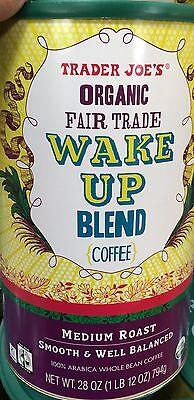 TRADER JOE'S Natural FAIR TRADE WAKE UP BLEND ( COFFEE ) MEDIUM ROAST NET 28 OZ