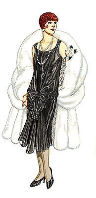 "Waterslide Decals (4pcs 2.5""x3.5"") FLONZ 412-0230 Vintage Fashion Belle Epoque"