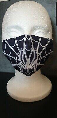 Kinder Mundschutz Schutzmaske Baumwolle Disney Spiderman Spinne Jungs schwarz