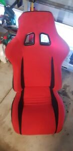 Reclining race seat, red