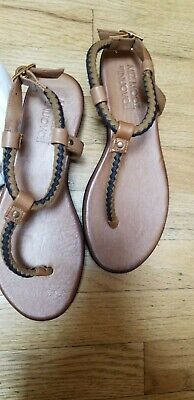 New Miz Mooz The Inuovo Leather Thong Braid Platform Sandals Womens Size 39 M*