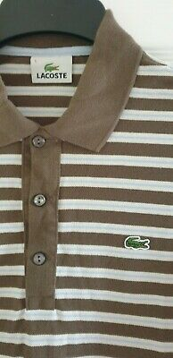 Mens lacoste polo shirt size 5 striped