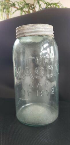 Vintage Mason Jar of 1872 Rare Old Antique