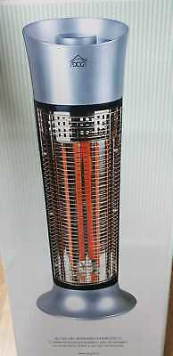 Estufa Eléctrico con Carbono Infrarrojo 2 Elementos Max 900w Oscilante Dcg