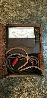 Vintage Honeywell Test Meter W Leather Case Untested