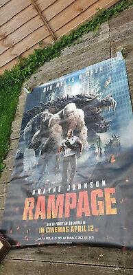 Rampage Movie 2018 Dwayne Johnson Mini Poster Flyer Ad Chirashi