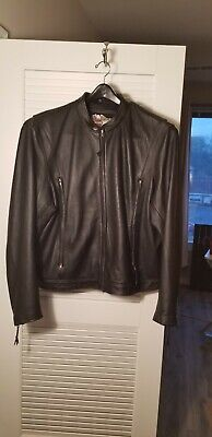 Harley Davidson Authentic Willie G Black Leather Jacket XXXL Rare Wheel Design